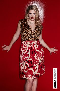 a20c9a525e0 Anna Scholz print mix double silk wrapover dress http   www.annascholz. Plus  Size ...
