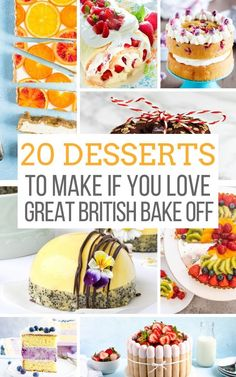 A collection of british bakes and recipes to inspire your inner Mary Berry. Cakes, pies, tarts, cookies and pastries with fresh and interesting takes. The post 20 Desserts to Make if You Love the Great British Baking Show appeared first on Food Monster. British Baking Show Recipes, British Bake Off Recipes, British Desserts, Great British Bake Off, Baking Recipes, Dessert Recipes, Baking Desserts, Yummy Recipes, British Cake