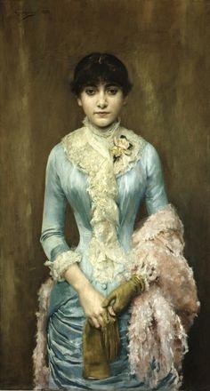 Portrait of Carmen Gaminde de Hurtado by Rogelio de Egusquiza, 1881.