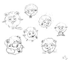 Sheeps and rams by rustikuz on DeviantArt