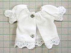 スモック風ブラウス 「パプペポ」着せ替え人形の手作り服の作り方 Tutorials to make doll clothes
