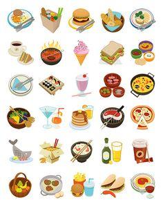 nosh food icons by skwirrol, via Flickr