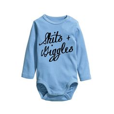 A personal favorite from my Etsy shop https://www.etsy.com/listing/258770500/shits-and-giggles-organic-cotton-baby