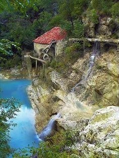 Waterfall at Old Mill, Istra, Croatia #waterfall