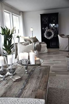 Metallic grey living space