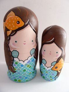 Mermaids & Goldfish Russian Dolls by Pony Chops