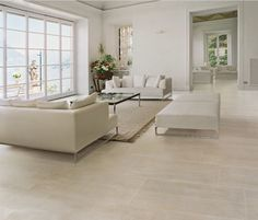 Reminiscent of classical antiquity, Pietra di Luni reveals, in all its simplicity, the majesty and grandeur that was once one of the glories of ancient Italy. Wood Effect Floor Tiles, Tile Floor, Monochrom, White Tiles, Color Tile, Mediterranean Style, Room Colors, My Room, Great Rooms