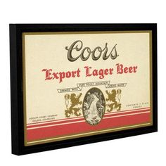 Red Barrel Studio Export Lager Framed Vintage Advertisement on Gallery Wrapped Canvas Size: