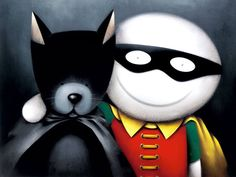 Bat dog and Robin