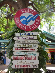 Kihei and where I am going to eat while there :)