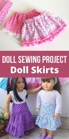 Fun and Easy Doll Skirt Sewing Pattern - Sew Crafty Me - - This is a doll skirt sewing pattern for inch American doll. You can use this pattern to sew a mini, midi or maxi skirt for the doll. Doll Dress Patterns, Baby Clothes Patterns, Skirt Patterns Sewing, Skirt Sewing, Pattern Skirt, Pattern Sewing, Pattern Fabric, American Girl Outfits, American Doll Clothes