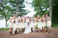 Number of years each girl has known the bride!