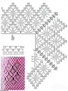 Easy Crochet Crochet Projects Stitch Patterns Word Search Knit Jacket Knitting And Crocheting Cardigan Sweater Outfit Spring Summer Filet Crochet, Beau Crochet, Pull Crochet, Crochet Motifs, Crochet Borders, Crochet Stitches Patterns, Crochet Diagram, Crochet Chart, Crochet Squares