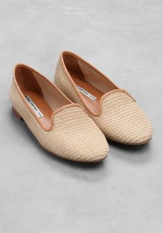 & Other Stories | Tan Straw Slippers
