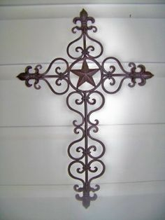 """Cross with the Texas State Seal and """"1845"""" - Absolutely beautiful ..."""