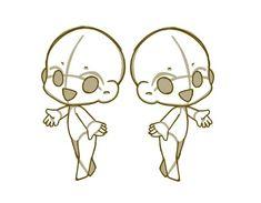 Cute Animal Drawings, Kawaii Drawings, Cute Drawings, Figure Drawing Reference, Drawing Reference Poses, Arte Gundam, Chibi Body, Chibi Sketch, Body Drawing Tutorial