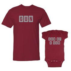 We Match!™ Gun & Son of A Gun T-Shirt & Baby Bodysuit Set