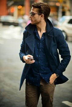 Cotton On peacoat & shirt | Get the look at http://iamgalla.com/2013/11/eventide/