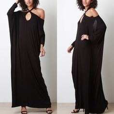 The Appeal Cold Shoulder Cross Maxi Dress Cold shoulder maxi dress with a cross front. Can also be worn without it crossed. Brand new. Runs large. NO TRADES. Bare Anthology Dresses Maxi