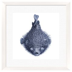 The perfect addition to your entryway gallery wall or living room decor, this lovely framed giclee print showcases a blowfish motif for a touch of coastal fl...