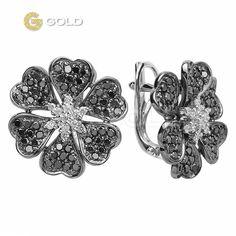 Серьги золотые с бриллиантами, купить | Серьги | Ювелирные изделия, украшения | Ювелирный магазин 585 Gold