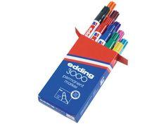 Edding Permanent Marker 3000 1.5 - 3 mm, Assorted (pack 10) (830 760) #Marker