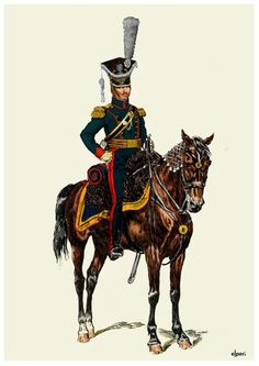 Polish Colonel Dominik Jerome Radziwilll 8 rgt. Uhlans 1811