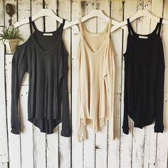 Black Jess Shoulder Knit Top Only have black available- Size S-M-L // suns out, shoulders out in the Jess Black knit thermal v-neck, long sleeves with shoulder cut outs. 97% Rayon, 3% Spandex. Sizes limited! Model wearing size small. Fits true to size. New without tag. Hhua Tops Tees - Long Sleeve