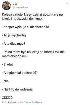 Very Funny Memes, Wtf Funny, Polish Memes, Dark Sense Of Humor, Funny Mems, First Language, Texts, Haha, Funny Pictures