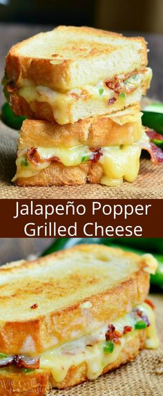 Amazing, ooey-gooey grilled cheese loaded with zesty cheese, jalapenos, and crispy bacon. This quick and easy Jalapeno Popper Grilled Cheese idea will knock your sock off. Grill Sandwich, Hummus Sandwich, Salami Sandwich, Cheese Sandwich Recipes, Grilled Sandwich Ideas, Panini Recipes, Simple Sandwich Recipes, Grilled Cheese Sandwiches, Grilled Cheese Recipes Easy