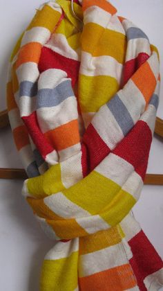 Scarf+Cotton+Wool+Gummy+Bear+Stripes+Scarf++Women+by+Bellabisinia,+$34.00