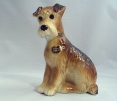 Vintage Royal Copley Airedale Figurine