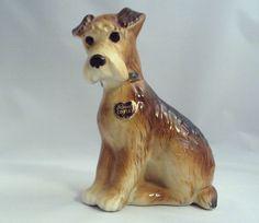 Vintage Royal Copley Airedale Figurine