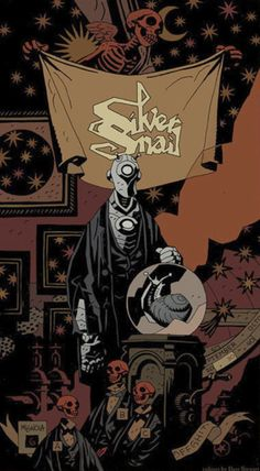 Promo Art for The Silver Snail Comic Shop in Toronto. Art by Mike Mignola