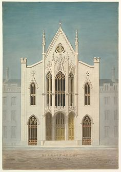 Study for a Library (front elevation) Alexander Jackson Davis (American, New York 1803–1892 West Orange, New Jersey) ca. 1838