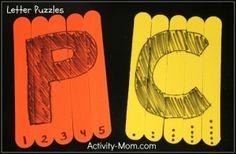 DIY Letter Puzzles