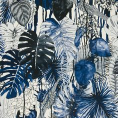jardin exo'chic - mediterranee fabric | Christian Lacroix 'Stunning example of a nature inspired pattern using a Monochromatic scheme'