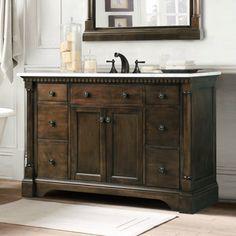 Abel 48 Inch Distressed Single Sink Bathroom Vanity Stone Top Http Www Listvanities Rustic Vanities Html Has The Exceptional Experie