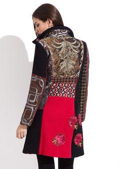 Desigual Dasha Coat...on ideeli.com-I'm crushing on it! Bd Fashion, Fashion Fabric, Couture Fashion, Womens Fashion, Fashion Trends, Beautiful Outfits, Cool Outfits, Maxi Skirt Tutorial, Couture Dresses