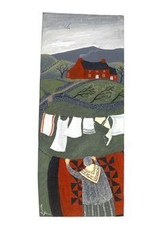 Valeriane Leblond, Wales, UK, oil on wood - French artist living in Wales