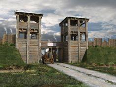 Römisches Holz-Erde-Kastell, 3D-Rekonstruktion