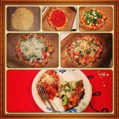 レシピとお料理がひらめくSnapDish - 8件のもぐもぐ - veggie cauliflower crust pizza + spaghetti squash by Gaby C