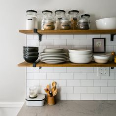 Open Shelving In The Kitchen Of This Brooklyn Tour On Design*Sponge
