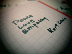 PEACE  LOVE  EMPATHY
