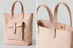 Swooning over this sturdy leather tote.