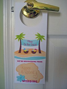Wedding Door Hangers  Set of 10  Tropical  Great by designedbyme, $12.00