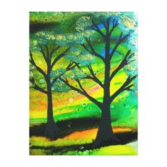 Shop Beautiful Abstract Tree Wrapped Canvas created by Perfect_Solutions. Painting Shower, Popular Crafts, Tree Artwork, Tree Canvas, Metal Tree, Fantastic Art, Unique Home Decor, Community Art, Metal Wall Art