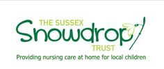 Charity Logo. The simple snowdrop for a trust in Sussex. Providing care at home for sick children.