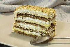 Jedna od najlepših torti sa lešnicima. Ako izaberete tortu beli Egipat za bilo koje slavlje nećete pogrešiti, idealan spoj tankih, mekih korica i dva fila...    Sastojci za kore ( pleh 30 x 20 cm, 4 korice ):   16belanaca  20kašika šećera  24 kašike mlevenih, pečenih lešnika ( mogu da s