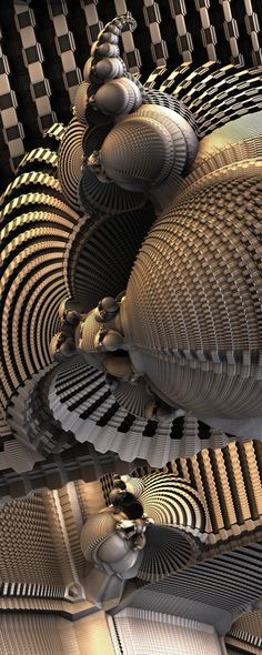MetallicBaroque, OctopusEnd by FractsSH.deviantart.com fractal art made with mandelbulb 3d